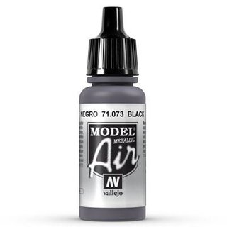 Vallejo Model Air: 073 Black Metal, 17 ml
