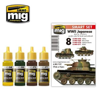 WWII JAPANESE AFV Early Colors Farb-Set, 4 x 17ml