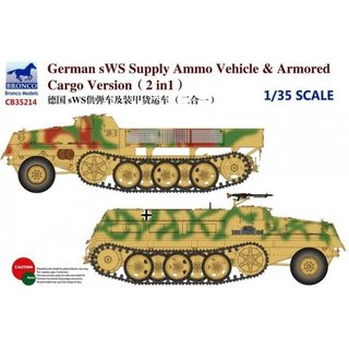 German sWS Supply Ammo Vehicle & Armored Cargo Version (2 in 1)