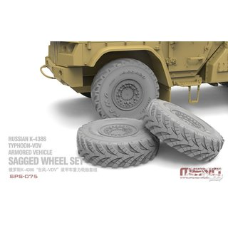Russian K-4386 Typhoon-VDV Armored Vehicle Sagged Wheel Set (RESIN)